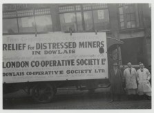 Co-operative support for the miners in Dowlais