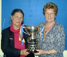 Carey Davidson and Eirlys Robertson with the Turner Trophy