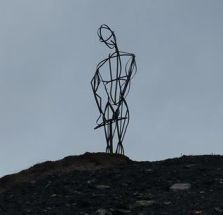 Miners statue Rhostyllen created by Ian Walton of ACO Artists Co-operative